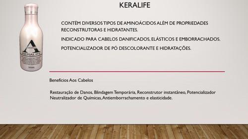 kit tratamento keralife keratina restauracao blindagem hidra