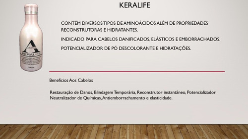 kit tratamento keralife keratina restauracao blindagem - und