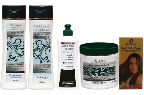 kit tratamento para crescimento cabelo natural crescenew