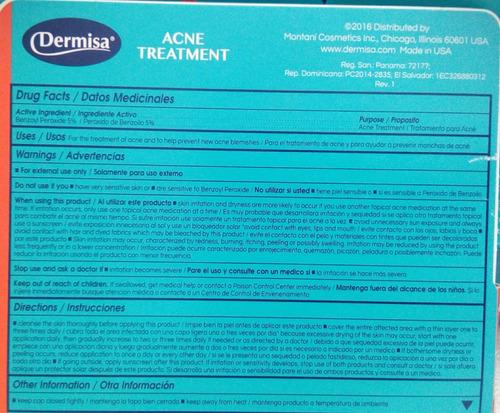 kit tratamiento acné dermisa original. crema + jabón azufre
