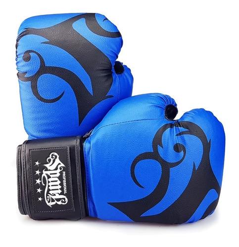 kit treino muay thai spank - cor azul