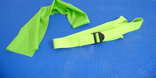 kit treino yoga faixa elática thera bandtapete bola suiça