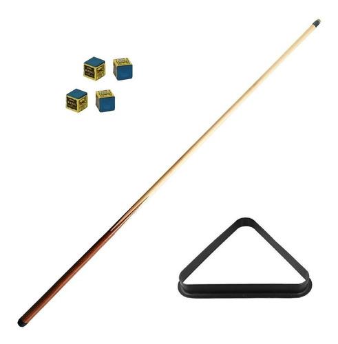 kit: triangulo de billar + 1 taco de billar + 4 tizas