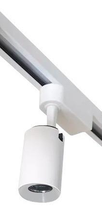 kit trilho eletrificado 1 metro + 3 spots led preto 7w eco