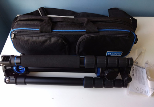 kit tripé benro gotravel 2 ga269t+cabeça b2 14kg vira monopé