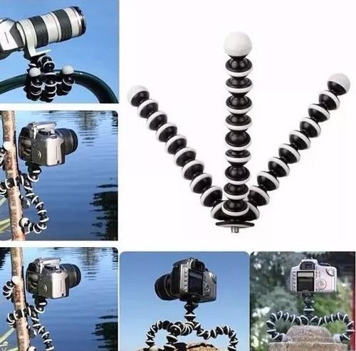 kit tripé suporte adaptador celulares câmeras + controle