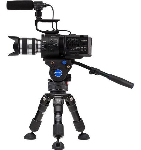 kit tripé vídeo benro 75kg hh75av hi-hat + nivelador bl75s