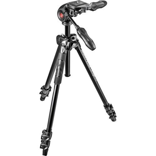 kit tripode manfrotto 290 light + cabezal de 3 vias | 12c