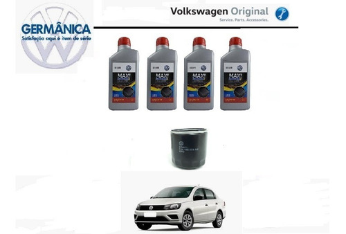 kit troca de óleo *4l de 5w40 508 + filtro de óleo da linha nacional vw