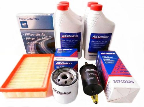 kit troca de óleo 5w30 e filtros celta gm ac delco