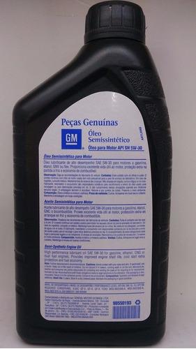kit troca de óleo 5w30 genuino gm + filtros vectra gt gtx