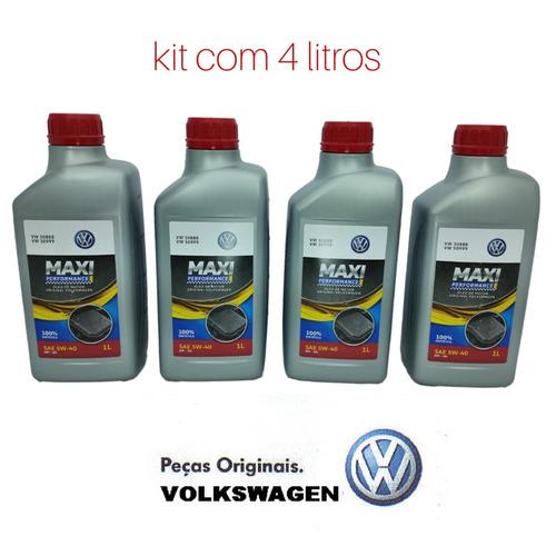kit troca de oleo original vw castrol 5w40 sintetico 100% *