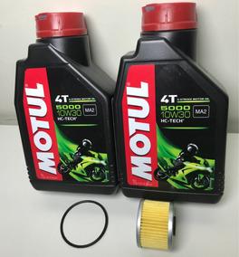 Kit Troca Óleo 2l Motul5000 10w30+ Filtro Honda Cb300 Xre300
