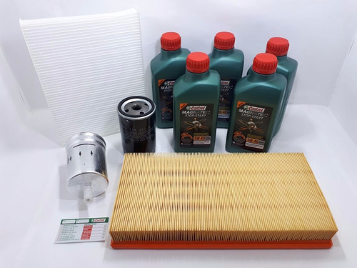 kit troca oleo castrol 5w40 502 00  beetle golf 1.6 1.8 2.0