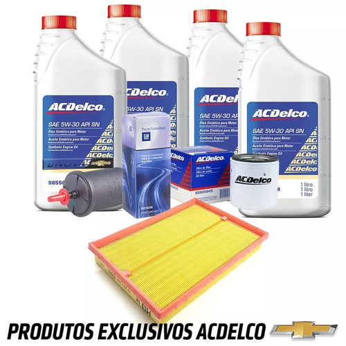 kit troca oleo e filtros 1.0 1.4 onix 2013 a 2016 original