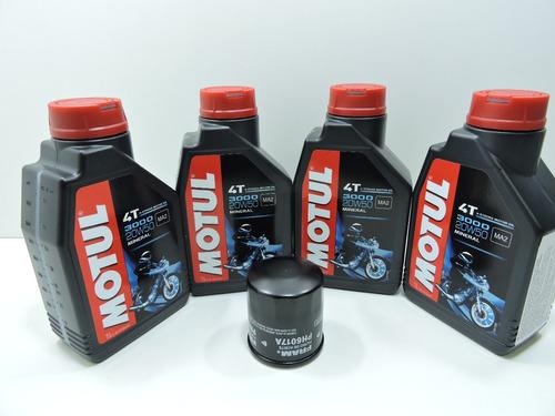 kit troca oleo filtro fram bandit 650 1250 motul 3000 20w 50
