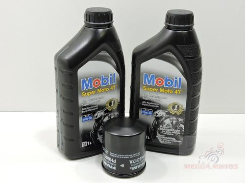 kit troca oleo+filtro kawasaki ninja 300 mobil 20w-50