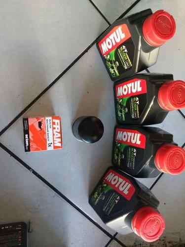 kit troca óleo motul 15w50 filtro fram kawasaki z-750