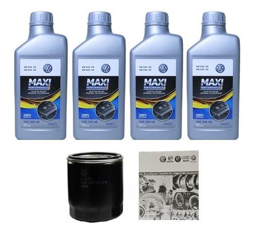kit troca óleo sintético maxi performance 5w40+ filtro vw
