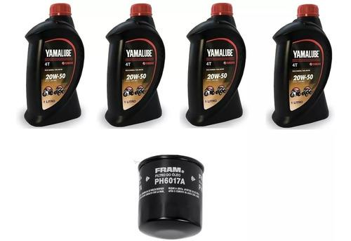 kit troca oleo/filtro fram xj6 yamalube 20w-50 fram ph6017a