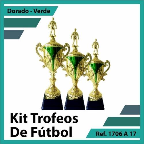 kit trofeos en bogota primer, segundo y tercer puesto 1706v