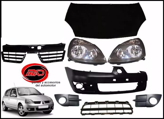 61ec8a5098 Kit Trompa Renault Clio 04/12 Paragolpe Capot Optica - $ 9.140,00 en ...