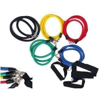 kit tubing elástico 11 itens treinamento funcional pilates