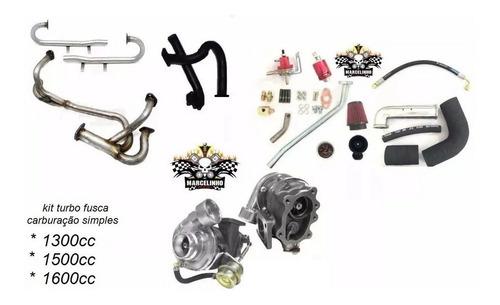 kit turbo fusca / brasilia carburação simples 1300 1500 1600