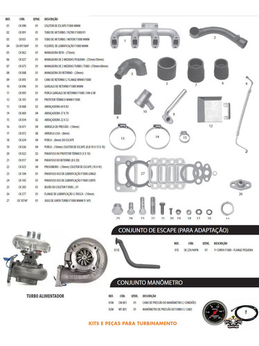 kit turbo garret .42 f1000 f4000 motor mwm 229-4 225-4 226-4