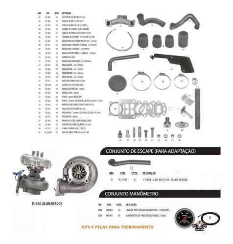 kit turbo garret trator mf275 - 290 perkins q20b 4236 4248