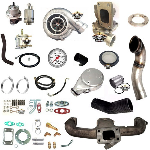 kit turbo opala 4cc 2.5 com turbo super .50 refluxo biagio