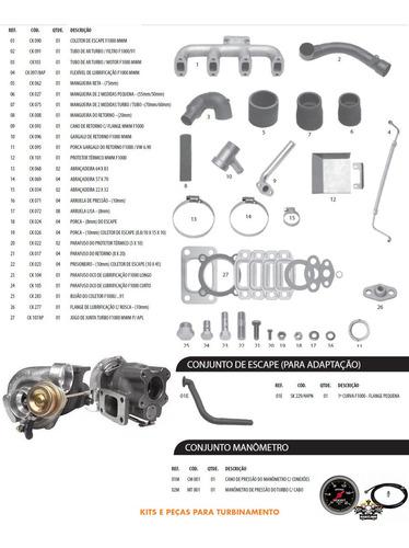 kit turbo valvulado f1000 f4000 motor mwm d229-4 225-4 226-4