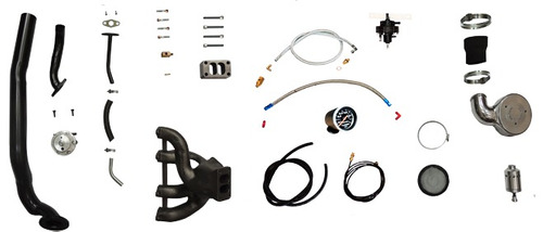 kit turbo vw ap 1.6 1.8 2.0 8v carb. 2e / 3e puls s/ turbina
