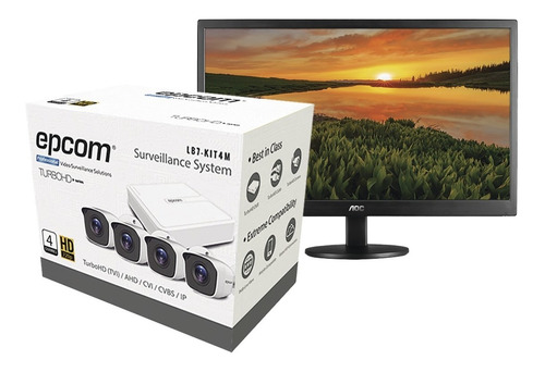 kit turbohd 720p + 1 monitor 16