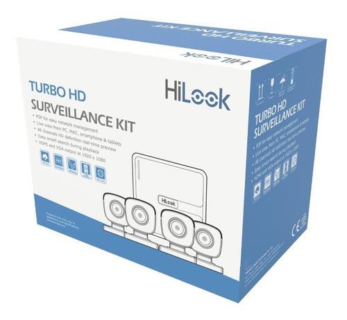 kit turbohd dvr 4 cámaras bala de policarbonato kit7204bp