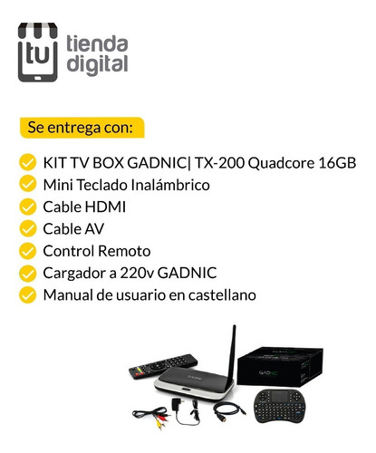 kit tv box android 1.8hz 16gb 2gbram quadcore + teclado