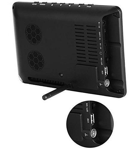 kit tv portatil hdtv lcd 9 polegadas tela monitor tomate