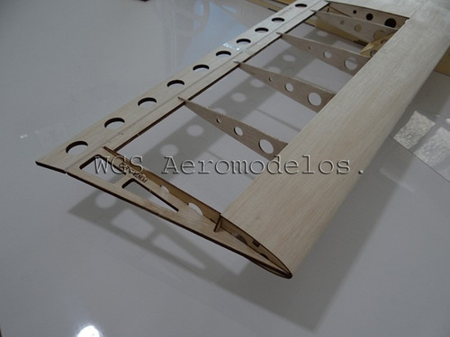 kit ugly stick asa alta em balsa 125 cm - kit para montar .