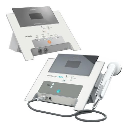 kit ultrassom 1-3 mhz + estimulador 4 canais