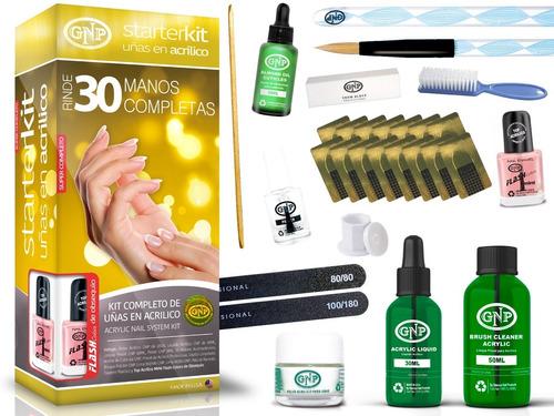 kit uñas en acrilico gnp rinde 30 manos envio gratis nice