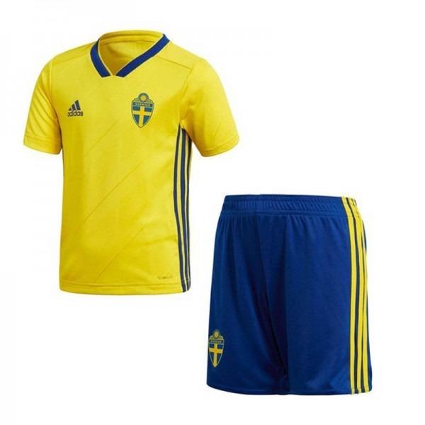 Kit Uniforme Camisa E Shorts Seleção Suécia Adulto Copa 2018 - R ... 8def49a4196da