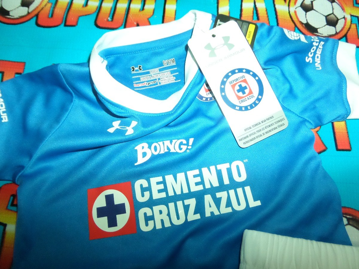 4f495899a7b Kit Uniforme Cruz Azul Infantil 2016-2017 Under Armour - $ 469.00 en ...