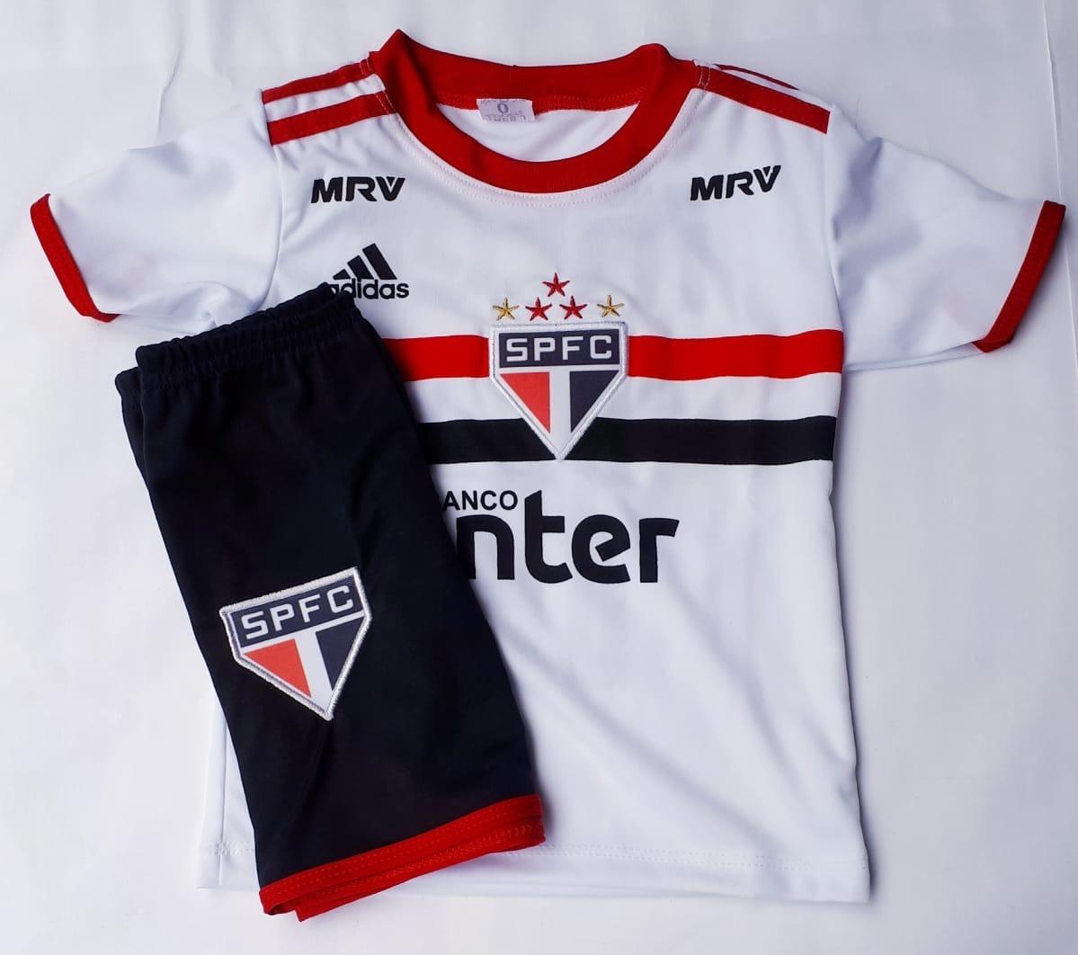 8ad4866ffe0de Kit Uniforme Infantil Do São Paulo +mochila Tipo Saco - R  45