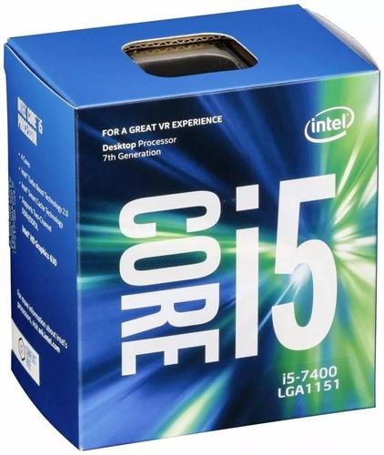 kit up gamer placa mãe 7ºgeração i5 7400 memoria 8gb dd4