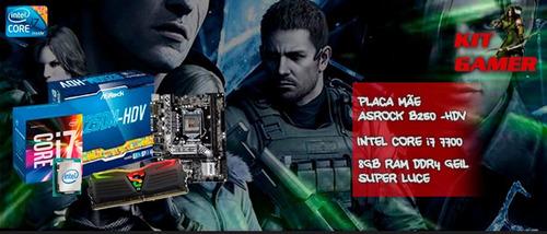 kit upgrade i7 7700 + placa asrock b250, 8gb ddr4 rgb + nfe