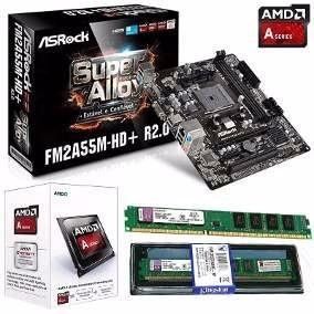 kit upgrade placa fm2+ ; processador a10 7700k + 4gb ddr3