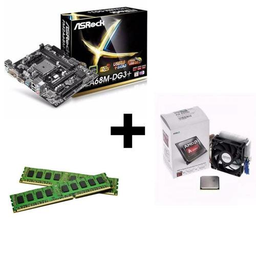 kit upgrade placa fm2+ ; processador a4 6300 + 4gb ddr3
