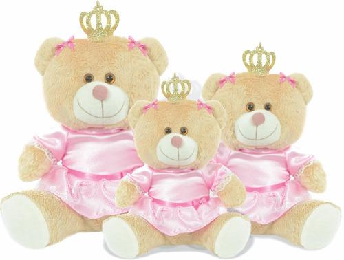 kit ursa ursinha para nicho pelucia princesa realeza