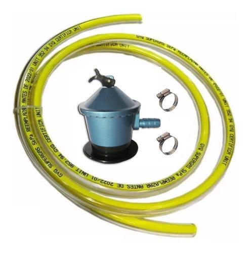 kit válvula de gas 13 kg + 1.5 m manguera + 2 abrazaderas