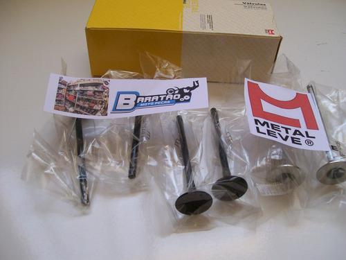 kit válvulas admissão escape metal leve honda cb 400 6 peças